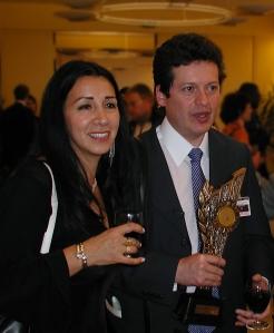 Alirio Uribe Munoz and spouse MEA 2003