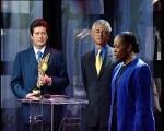 Barbara Hendricks at MEA ceremony 2003 with late Sergio Vieira de Mello and Alirio Uribe Munoz
